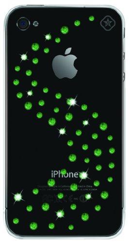Bling my thing milky way, custodia per iphone 4 con elementi in swarovski, colore: verde