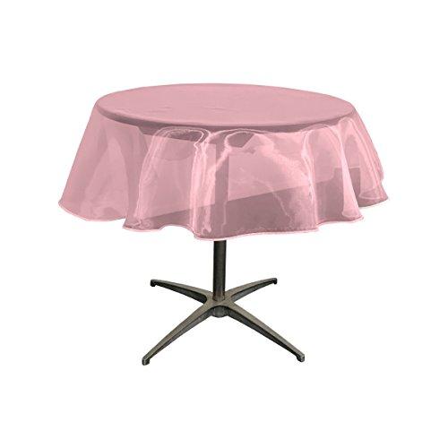 La Leinen Sheer Spiegel Organza Tischdecke rund 51-inch, Hot Pink