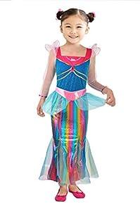 Ciao Barbie sirena Arco iris disfraz de niña, 4-5años, Multicolor, 11665.4-5