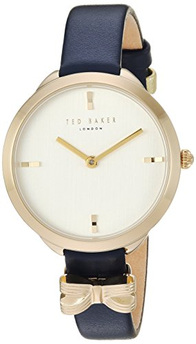Ted Baker Women's 'ELANA' Quartz Stainless Steel and Leather Casual Watch, Color Blue (Model: TE15198004)