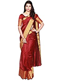 Indian Fashionista Women's Cotton Saree With Blouse Piece (Mhvr120-1546-3_Red)