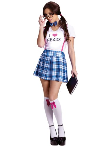 Sexy Nerd Girl School Kostüm - Unbekannt Sexy Nerd School Girl Fancy Dress Costume Small/Medium