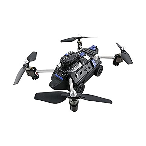 H40WH Flying Quadcopter Tank, Kobwa RC Drone & Tank With Headless Mode, One Key Return, 720P 360° Rotate HD Camera, Real Time Transmission - Black
