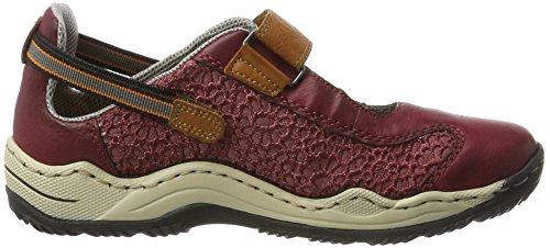 Rieker Damen L0578 Sneakers Putrefazione (vino / Scala / Caienna / 35)