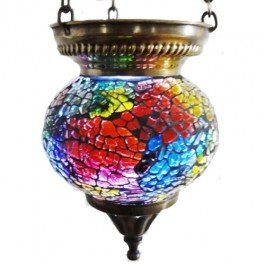 'Marrakech Nights' Mosaic Tealight Lantern Holder - Ideal For Creating Beautiful Ambiance (Large, Multi)