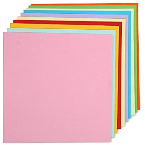 100hojas de color doble cara papel grúa plegable de papel para Origami Cm Por 15,2cm), 10colores