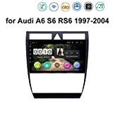 ZhiQin Android 8.1 8 Cores GPS Autoradio Navigazione Stereo per Audi A6 S6 RS6 1997-2004, con 9'' Touch Screen Supporto Sistemi Video/Chiamate Bluetooth/RDS DSP OBD2,4g+WiFi:4+64gb