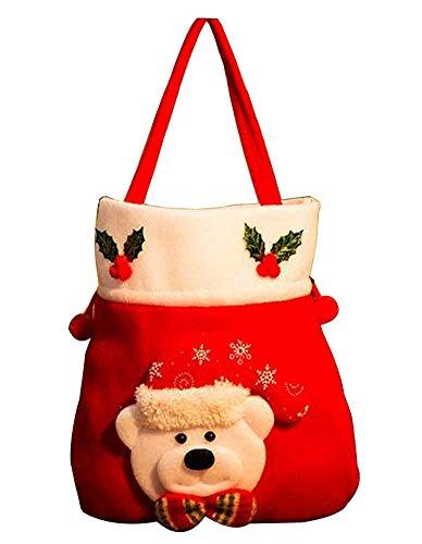 Set di 2 sacchetti di regalo di natale con decorazioni natalizie candy bag [c]