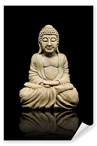 Postereck - Premium Poster 0153 - Buddha Statü Religion Engel Religion Buddhismus - Größe - DIN - A3-29.7 cm x 42.0 cm