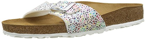 Birkenstock - MADRID - Mules (Étroit) - Femme - Multicolore (Multicolore Oriental Mosaic/White) - 36 EU