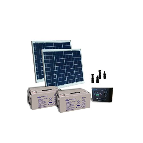 Kit electrificada puertas Solar 100W 24V Placas Solares