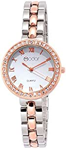 Modor Hues Rose Gold-Silver Analogue White Dial Women's Watch