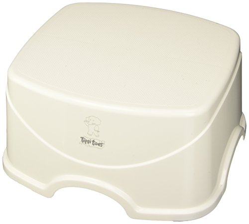 Tippitoes Step Up Stool (White/Grey)