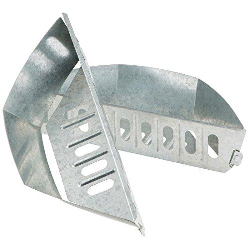 Bruzzzler Kohlekorb für Kugelgrill, Kohleschale für den Grill, Holzkohlekörbe Char-Baskets, Holzkohle Briketthalter für indirektes Grillen, 2-er Set