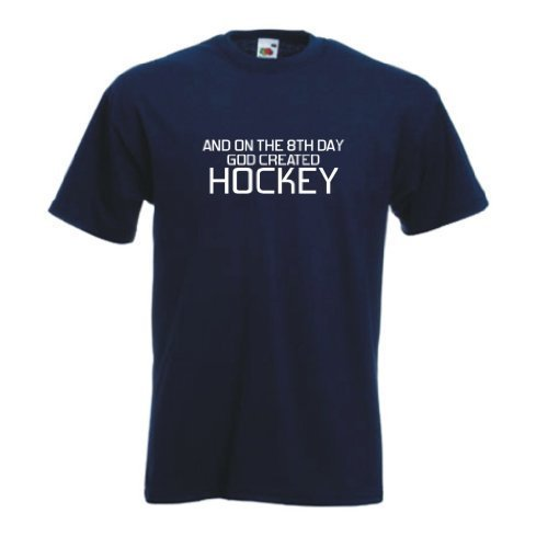 an der 8th tag Gut schuf Hockey T-shirt Marineblau