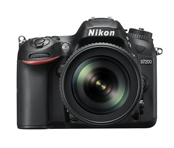 Nikon D7200 24.2 MP Digital SLR Camera (Black) with AF-S 18-105mm VR Kit Lens and 8GB Card, Camera Bag