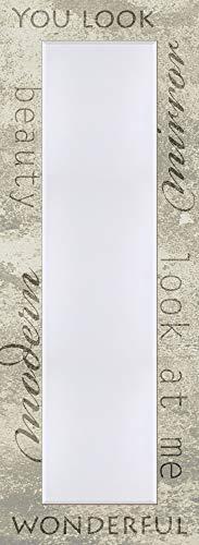 Artland Qualitätsspiegel I Spiegel Groß Wandspiegel Holz Modern Gaderobenspiegel Holzrahmen Flurspiegel 50 x 140 cm Spruchbild Vintage A6NU