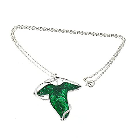 1pcs Charm Women Green Leaf Elven Pin Pendant Chain Necklace Jewelry New Female Party Wedding Accessories