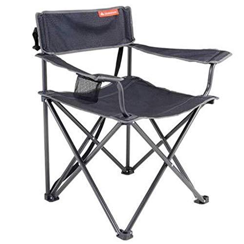 Chaises Pliante Portable D'extérieur De Camping Siège De Loisir De Pêche De Pique-Nique Cadeau (Color : Gray, Size : 20 * 18 * 87cm)