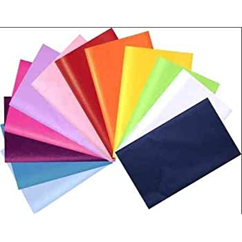 VARIETY OF COLOURS Tissue Paper Sheets 35cm x 45cm 18gsm  Acid Free