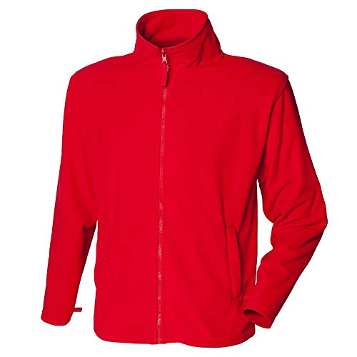 Henbury Mens Polyester MicroFleece Jackets Classic Red