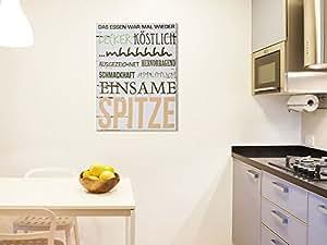 leinwand holzrahmen schriftzug f r k che spruch das essen war mal wieder k che. Black Bedroom Furniture Sets. Home Design Ideas