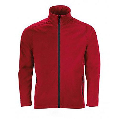 SOLS Herren Race Softshell-Jacke mit durchgehendem Reißverschluss, wasserabweisend Schwarz
