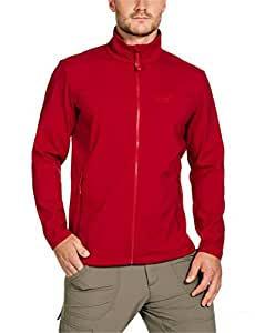 Jack Wolfskin Element Jacket Veste softshell pour homme S Rouge - Rouge clair