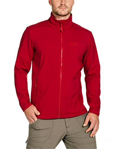 Jack Wolfskin Element Jacket Veste softshell pour homme Rouge - Rouge clair