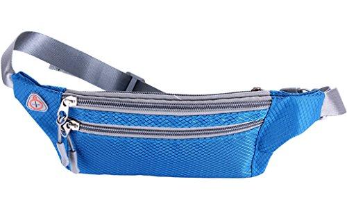Smile YKK Outdoor Sport Running Lauftasche Hüfttasche Gürteltasche Taillentasche Bauchtasche für Damen/Herren 4-6 Inch Handy Blau