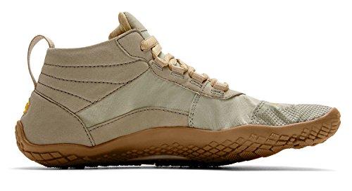 Vibram FiveFingers V de trek Women + chaussette orteils–Set–Chaussures à orteils de trekking femme/bar Chaussures pieds avec chaussettes orteils Khaki/Gum