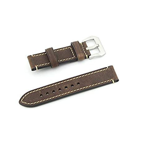 Owfeel Brown Leather Watch Band Strap Replacement Watch Belt