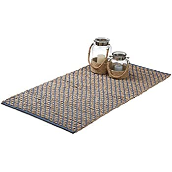 Relaxdays Teppich Läufer Flur 70 x 140 cm, Handmade