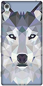 The Racoon Lean printed designer hard back mobile phone case cover for Sony Xperia Z3 Plus. (Ice Wolf E)