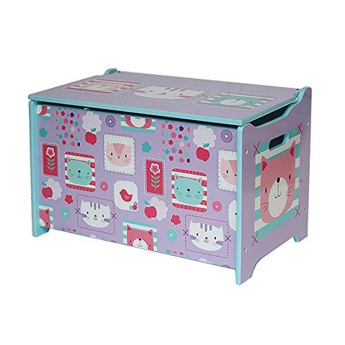 ielzeugtruhe Spielzeugkiste Holz Aufbewahrungsbox Kinder Sitztruhe Kinderzimmer Staubox mit Deckel 18HMD-003 (60 x 36 x 39cm) ()