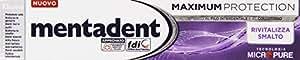 Mentadent - Maximum Protection, Dentifricio Rivitalizza Smalto Con 10 Azioni - 75 Ml - [pacco da 12]