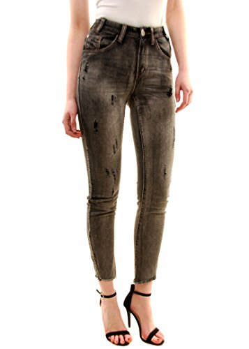 One Teaspoon Donna Nero Heart Scallywags Jeans Grigio
