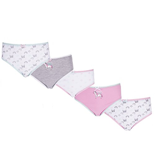 4KIDZ Infant Girls Novelty Briefs (5 or 15 Pair Multipack) 100% Cotton Underwear Ages 2 Up To 13 Years