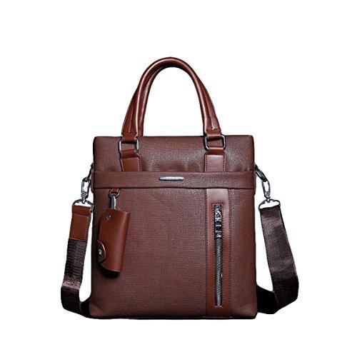 Männer Handtaschen-Geschäfts-Beutel-Computer-Aktenkoffer-Beutel-freie Schulter-Beutel-beiläufige Art Und Weise Brown2
