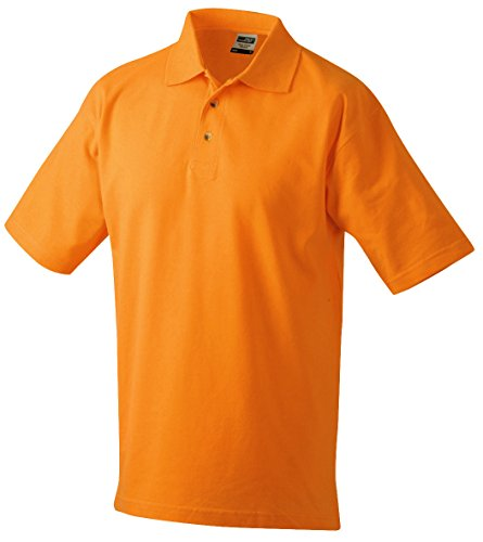 James & Nicholson Herren Poloshirt Polo-Piqué Medium Orange (Orange)