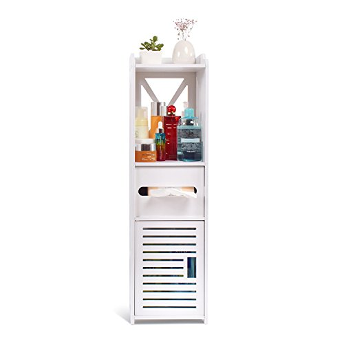 Aimu impermeabile unità armadietto per il bagno, mobili per bagno e wc, bianco