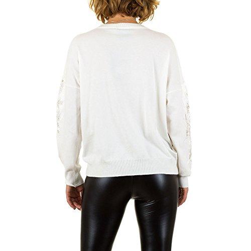 iTaL-dESiGn - Pull - Femme Weiß