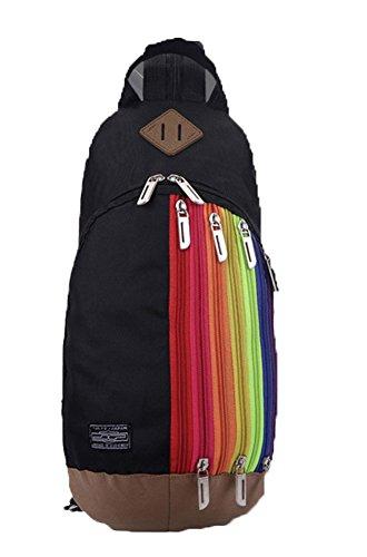 Baymate Unisex Sportiva Zaino Con Un Sacco Di Tasche Per Sport Outdoor Nero