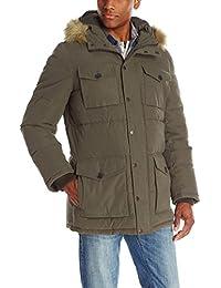 c3f2c681dad Tommy Hilfiger Hombres de Micro de Sarga Longitud Completa con Capucha  Parka Coat