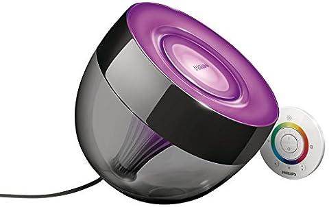 Philips Living Colors Iris, Energiesparende LED-Technologie mit 10 Watt,16 Millionen Farben, mit Fernbedienung, schwarz