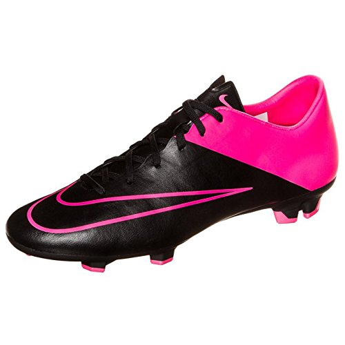 Nike Mercurial Victory V Fg, Chaussures de Football Homme noir-rose
