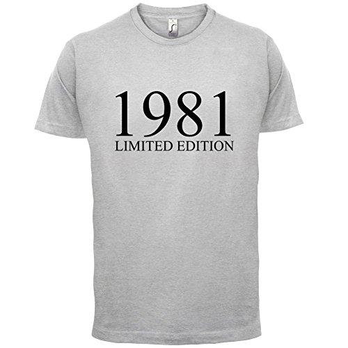 1981 Limierte Auflage / Limited Edition - 36. Geburtstag - Herren T-Shirt - 13 Farben Hellgrau