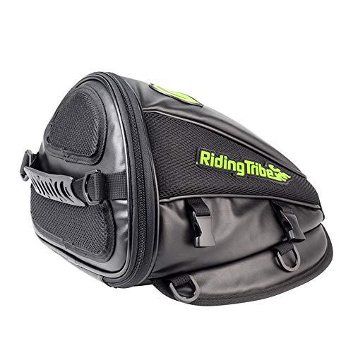 Borsa impermeabile per borsone da bicicletta moto serbatoio carburante posteriore sedile posteriore borsa cavaliere laterale in pelle da viaggio in pelle multi-funzione borsa uomo e donna all'interno