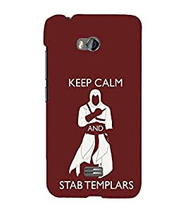 EPICCASE Stab Templars Mobile Back Case Cover For Micromax Q336 (Designer Case)