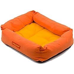 cama de perrito Sannysis perrera Casa para mascotas 42cmX35cmX13cm (Naranja)
